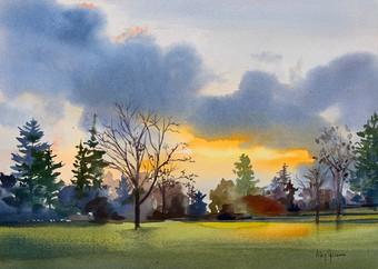 Sunrise on Rhinecliff Road II