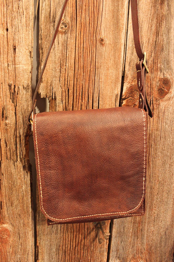 Small messenger bag with full flap