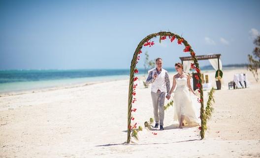 mariage sur la plage à zanzibar