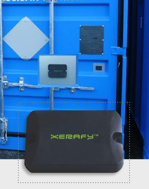 Container with Xerafy Micro X-II tag at CNPE nuclear power plan in Fessenheim (France)