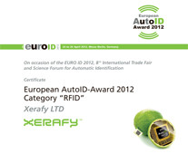 Xerafy Distinguished With 2012 European AutoID Award In Berlin