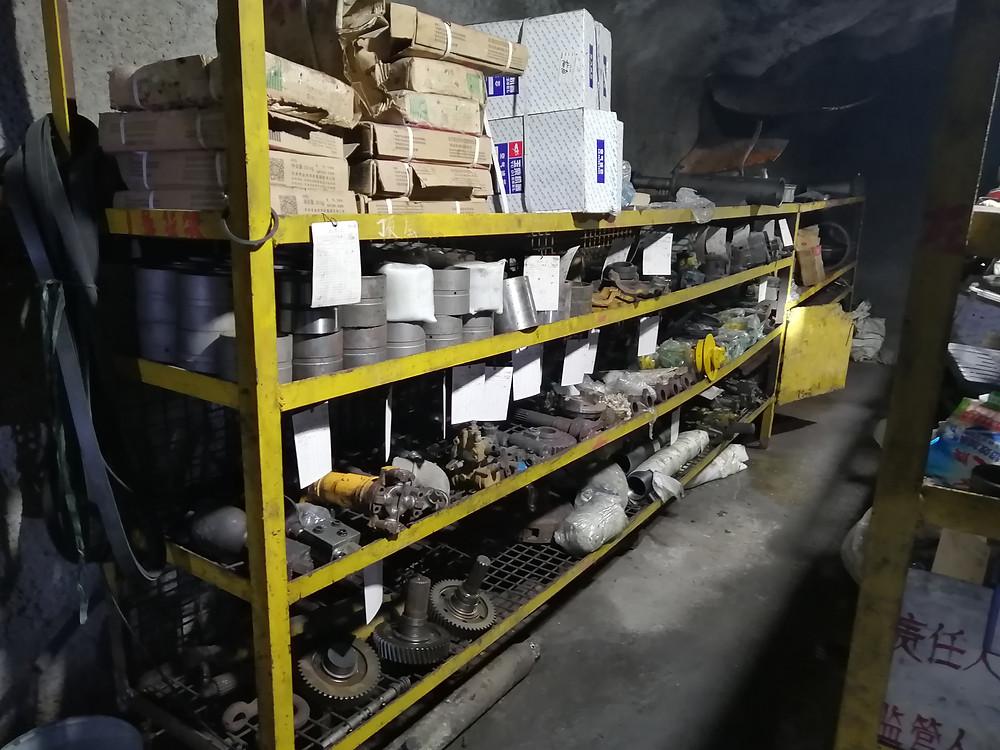 Underground parts and equipment at Dazhong Mining © Xerafy