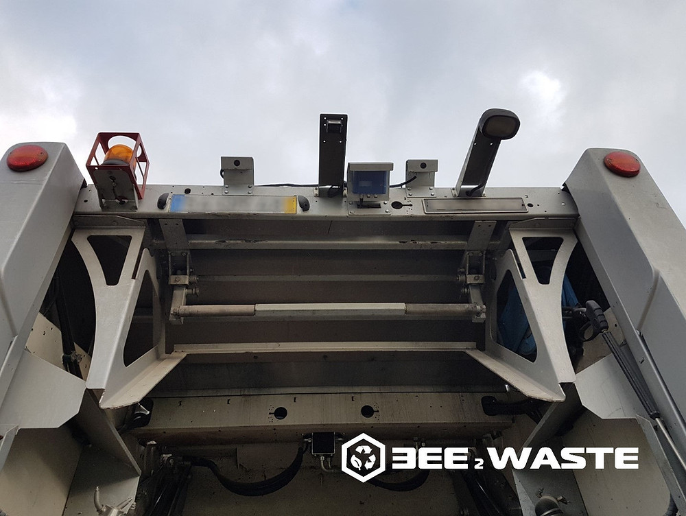 Waste Collection Truck Fitted with RFID Reader