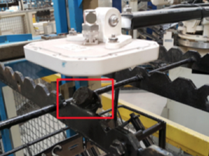 RFID antenna located above every work place for automated data capture