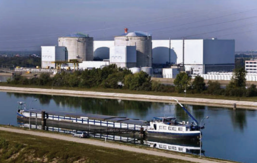 CNPE nuclear power plant in Fessenheim (France)