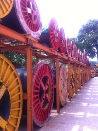 Cables stored at Keystone Cable's facility in Singapore