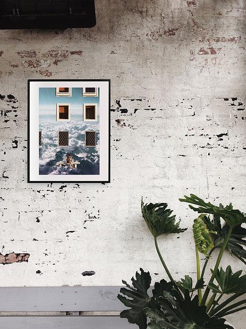 """Waiting Room"" - Regular Print - 40x50cm (15.7x19.7inches)"