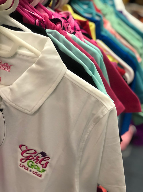 GIRLS GOLF Embroidered Golf Shirt