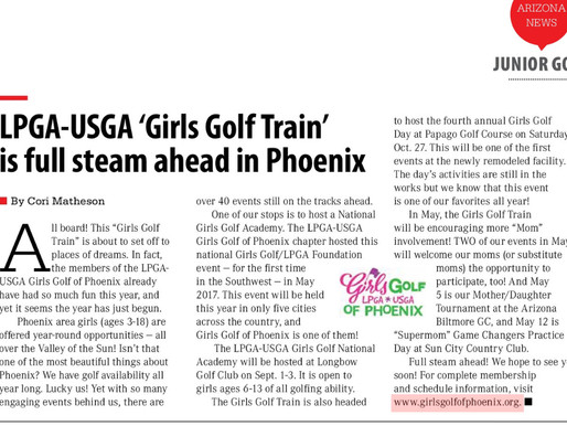 Girls Golf Train is full steam ahead....