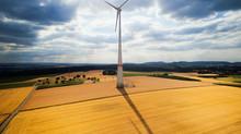 Windkraftrad der Energiegenossenschaft Ingersheim
