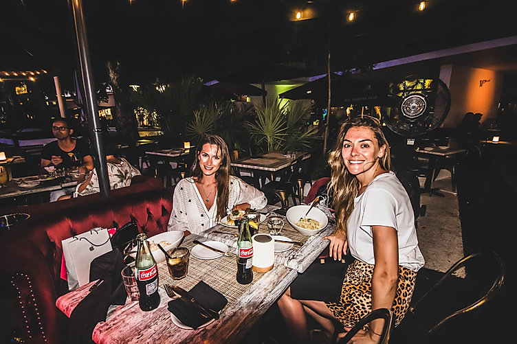 Two gorgeous ladies dining-in at 7 SPICES