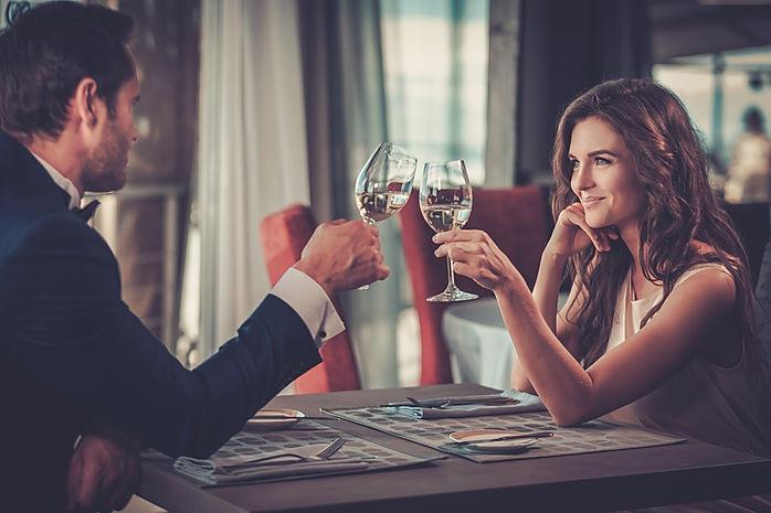 Beautiful couple in a restaurant.jpg
