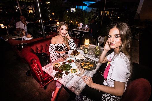 Ladies enjoying their night at the lounge