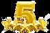 46575080-cinq-étoiles-étoiles-d-or-brill