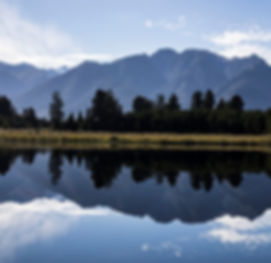 Perfect Reflection of Mt Cook at Lake Matheson in New Zealand