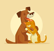 Chat dans les bras d'un chien.jpg