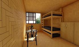 Chambre-avec-double-lits-Cubo-par-Eral-F