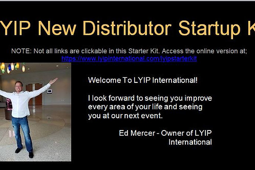 LYIP Loyalty Program / New Distributor Start Up Kit