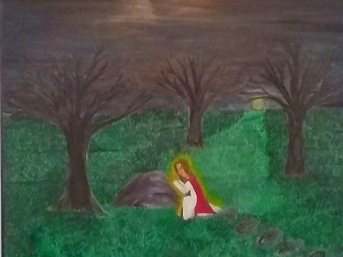 Oil Painting of Jesus -  Garden of Gethsemane Prayer