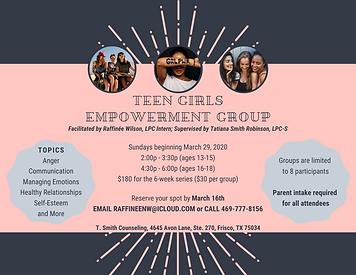 Teen Girls Empowerment Group - March 202