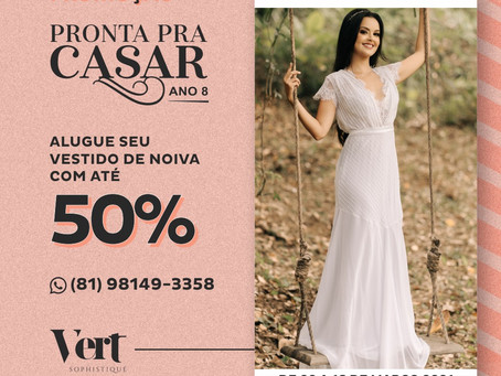 vestido de noiva nas lojas Vert Sophsitiqué