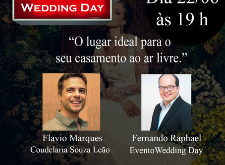 Live Wedding Day & Coudelaria Souza Leão com o tema: O lugar ideal para o seu casamento ao ar livre.