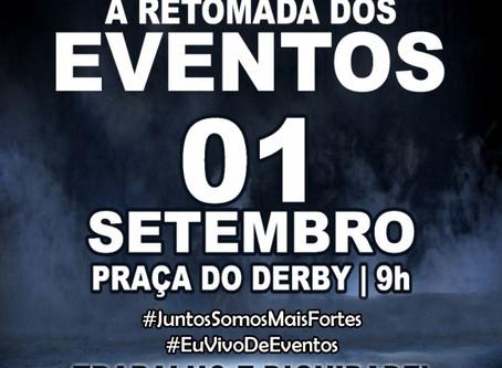 Profissionais de Eventos fazem passeata pela volta das atividades em Pernambuco
