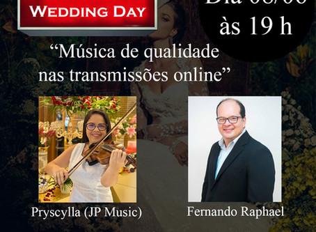 """Live com Fernando Raphael & Pryscylla (JP Music) Tema: """"Música de qualidade nas transmissões online"""""""