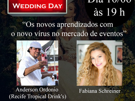 Live com Fabiana Schreiner e Anderson da Recife Tropical Drinks sobre o mercado de eventos.
