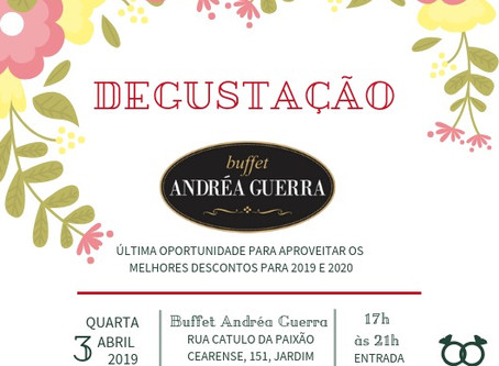 Degustação no Buffet Andréa Guerra