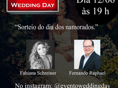 """Live: Fabiana Schreiner & Fernando Raphael """"Sorteio de ensaio fotográfico para o dia dos namorados""""."""