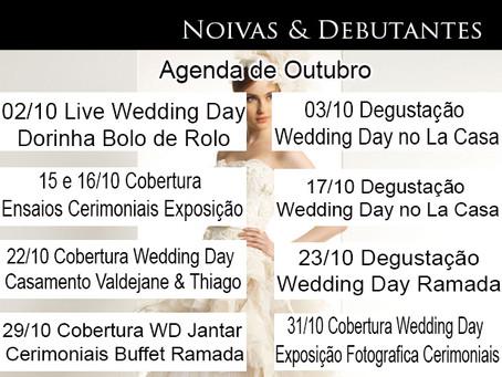 Agenda Wedding day ações desenvolvidas em Outubro