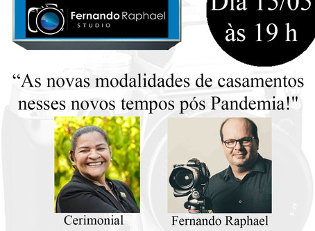 Dica Wedding Day: Live do Fernando Raphael Studio com Cerimonial Ana Cristina.