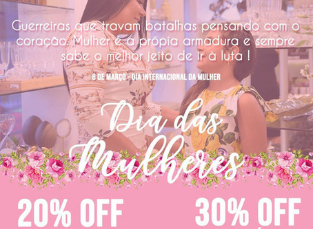 20% de desconto na Rosana Araújo Decor   promoção em homenagem ao dia internacional da mulher