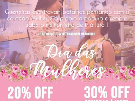 20% de desconto na Rosana Araújo Decor | promoção em homenagem ao dia internacional da mulher