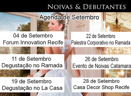Agenda Wedding day Setembro