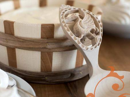 baquet et cuillère à crème