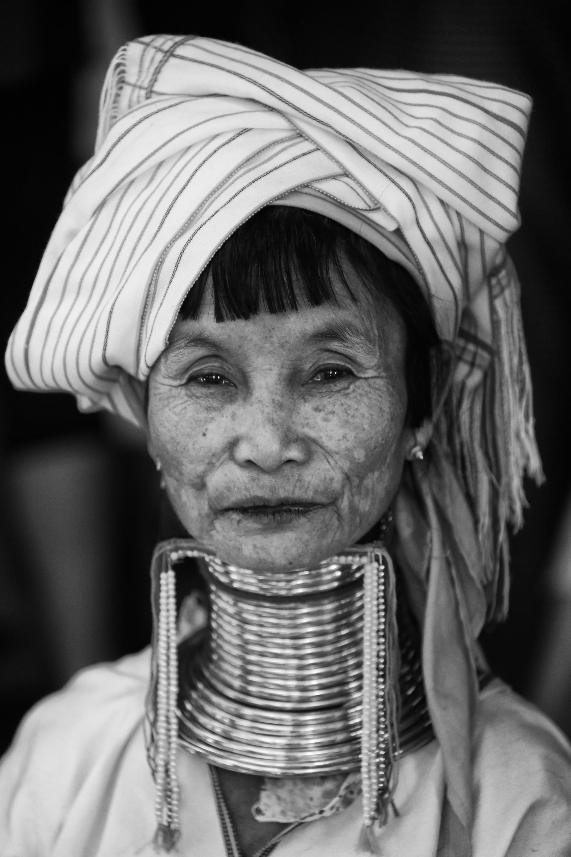 Padaung woman in Bagan