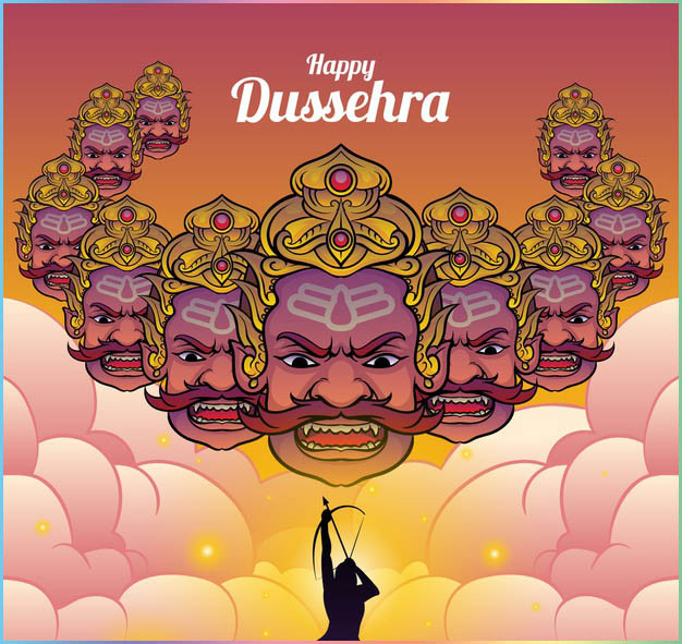 Vijayadashami  or Dusshera is observed for different reasons and celebrated differently in various parts of South Asia. In the southern, eastern and northeastern states of India, Vijayadashami marks the end of Durga Puja, remembering goddess Durga's victory over the buffalo demon Mahishasura to restore and protect dharma.