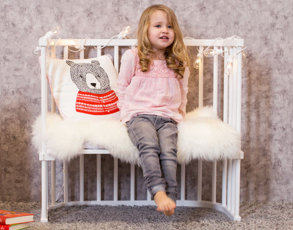 Babybay converted to a bench