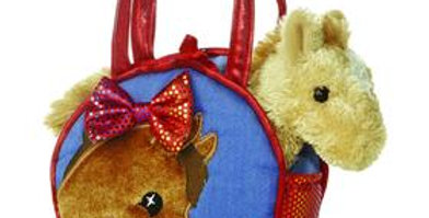Pretty Pony Fancy Pals Pet Carrier with Plush Horse