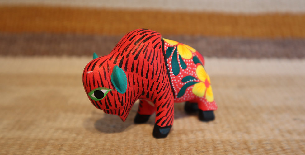 Oaxacan Wood Carving - Bison