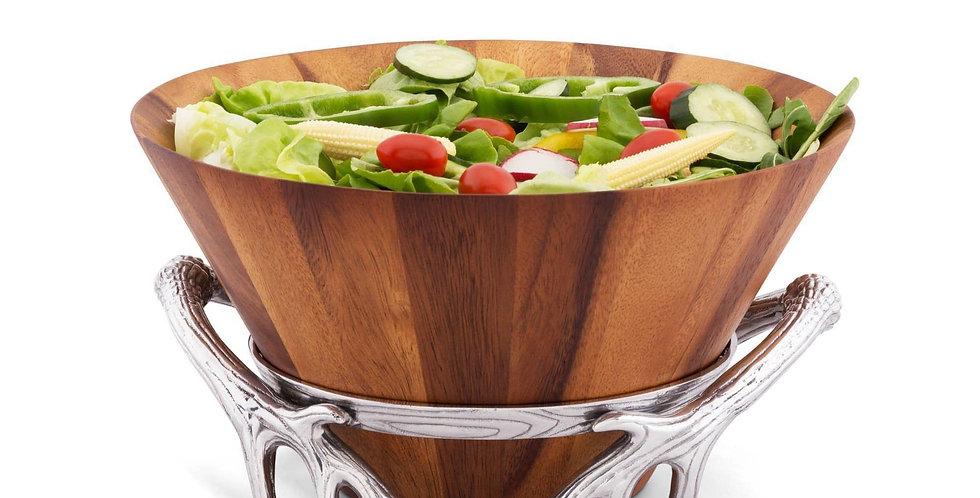 Wood Salad Bowl - Antler