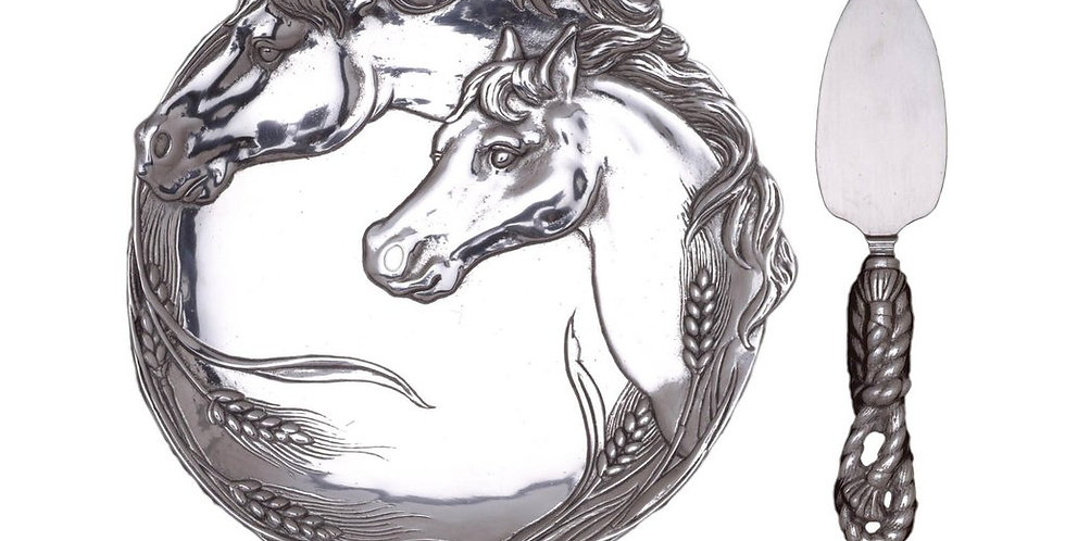 Plate with Server - Horse