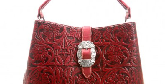 Trinity Ranch Tooled Design Handbag