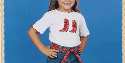 Kid's Korral Red Bandana Ruffle Shirt and Skirt Set