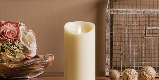 Luminara® Flameless Candle - Vanilla Scented Ivory Wax Pillar - 7 in