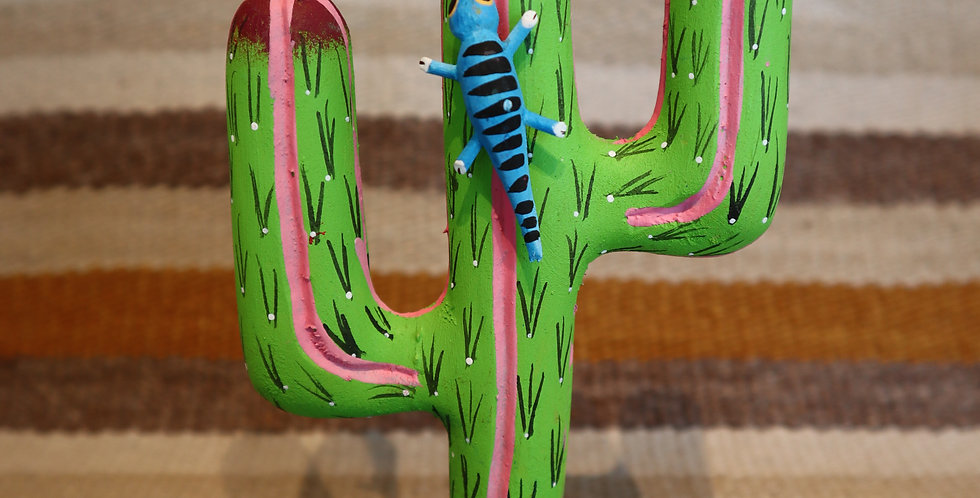Oaxacan Wood Carving - Cactus