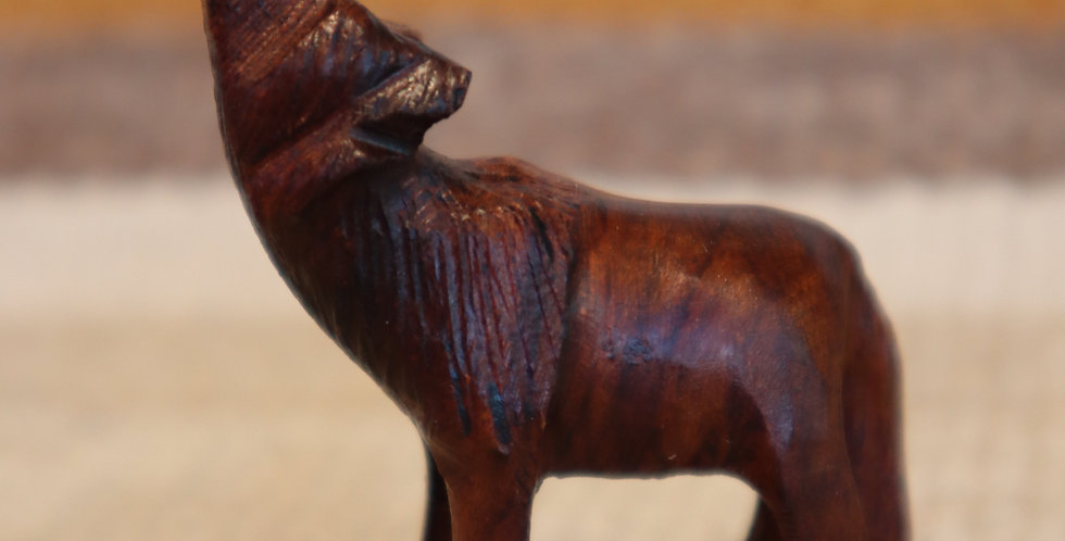 Ironwood Carving - Standing Wolf