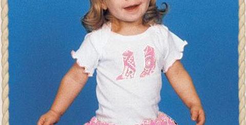 Kiddie Korral Infant Pink Bandana Ruffle Onesie